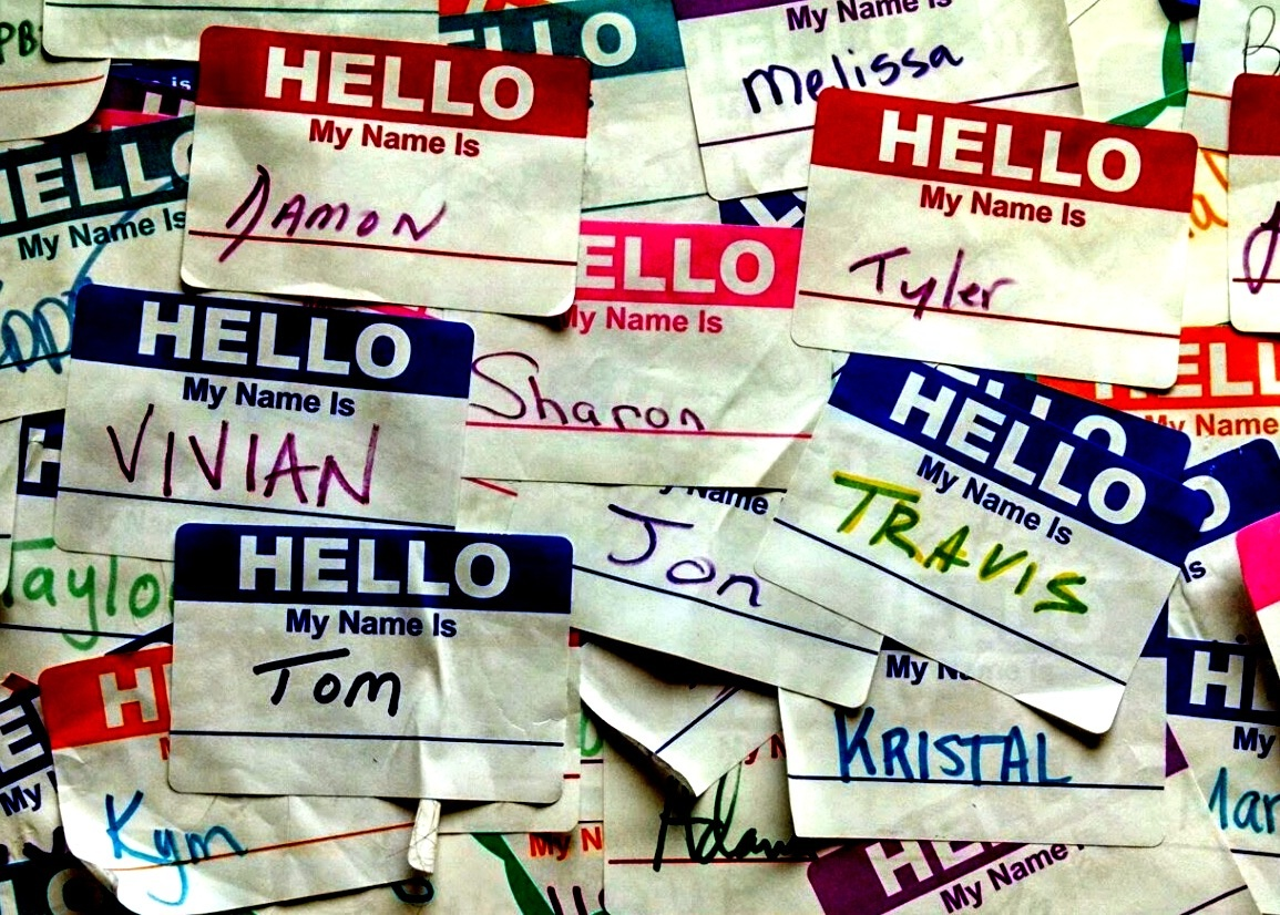 """my name is"" stickers"