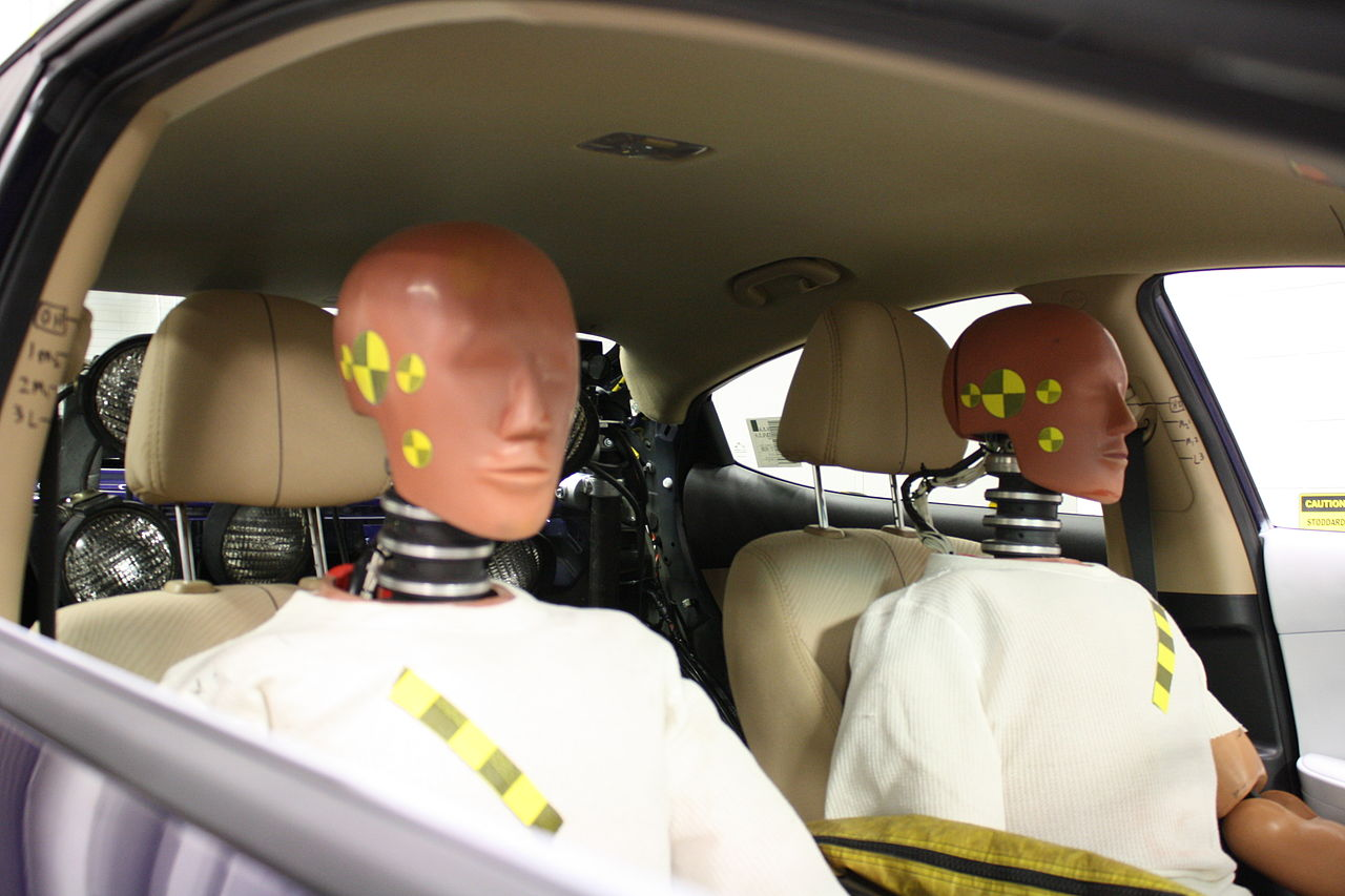 Two crash test dummies
