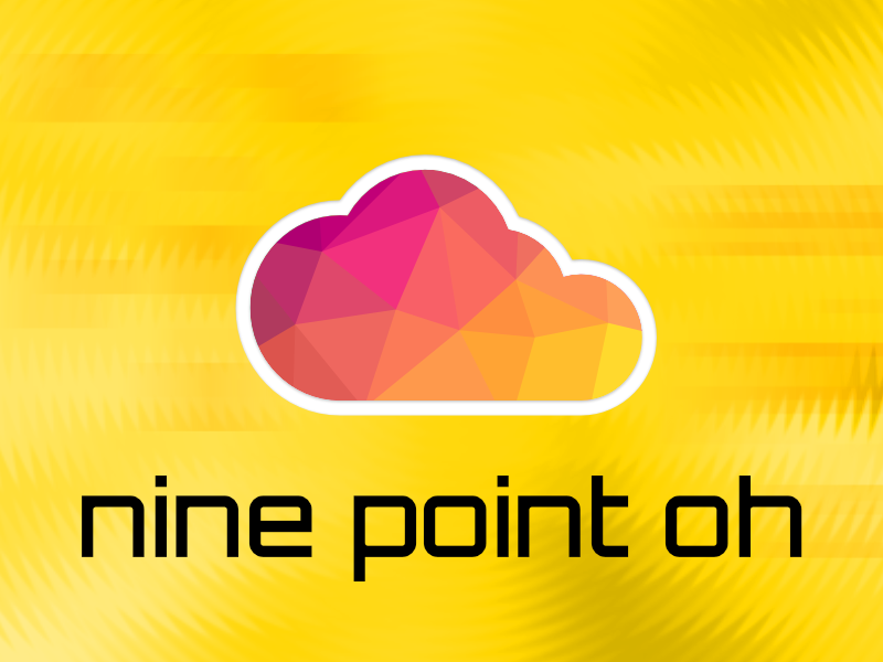 "Mojolicious cloud with text ""nine point oh"""
